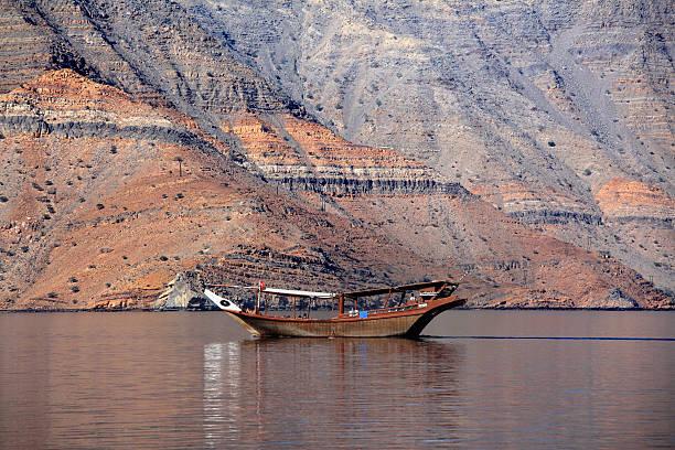Dhow vor dem Musandam coast, Oman – Foto