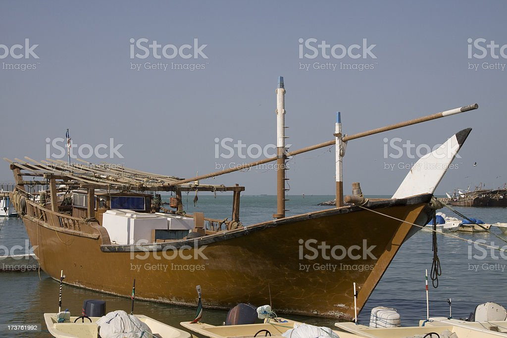 Dhow in Kuwait royalty-free stock photo