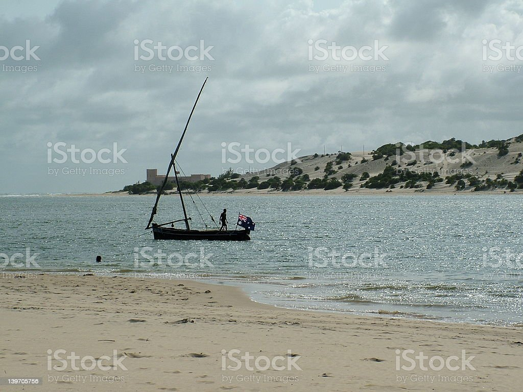 Dhow on Lamu royalty-free stock photo