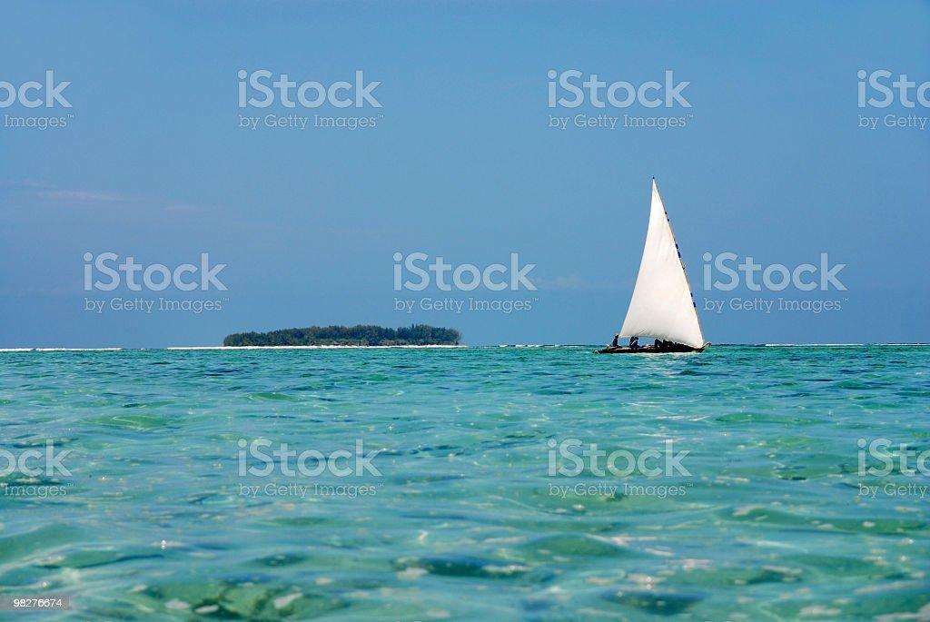 dhow on zanzibar island royalty-free stock photo