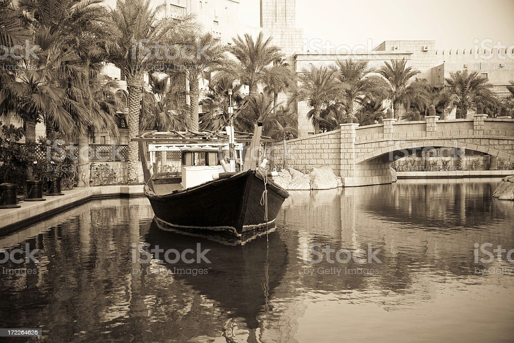 Dhow Traditional Ship Gulf States royalty-free stock photo