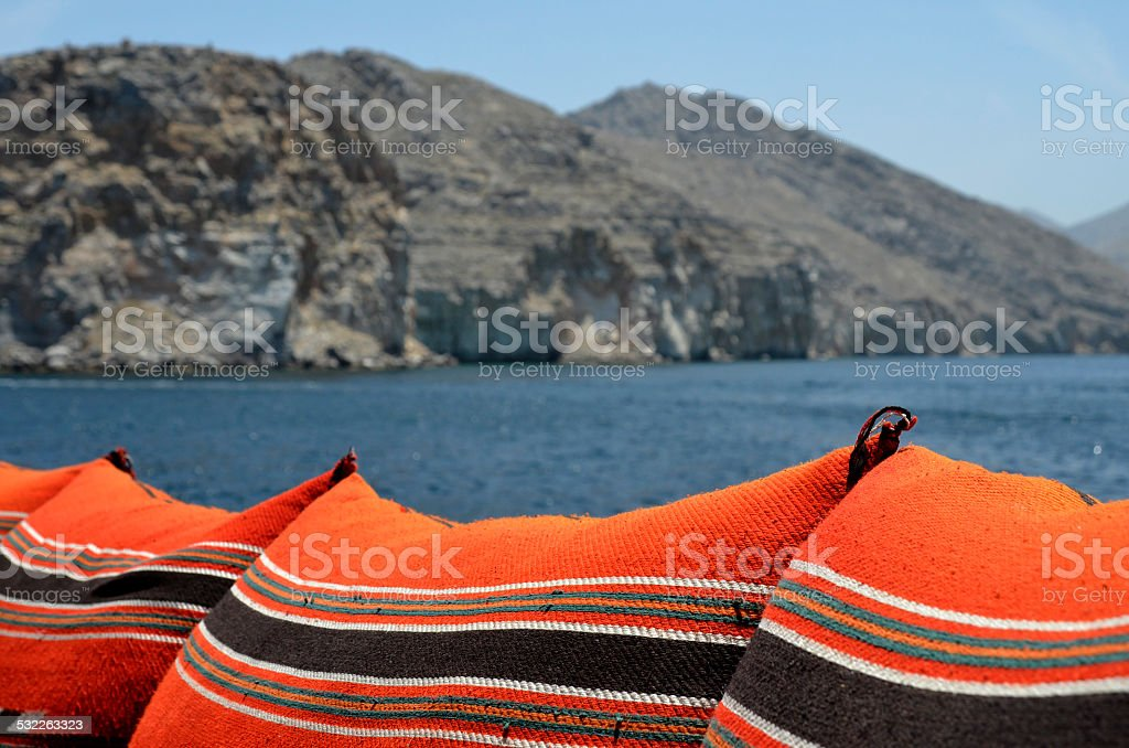 dhow-cruise in khasab, oman stock photo