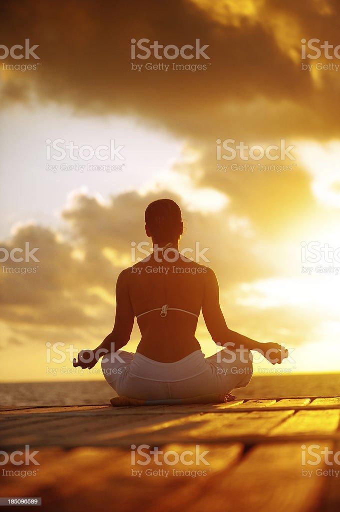 Dhyana (Mantra Meditation) stock photo