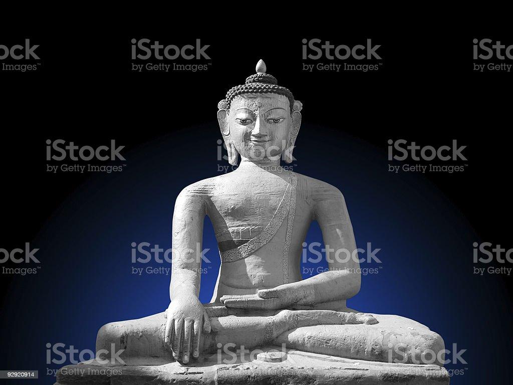 Dhyani Buddha Aksobhya Statue royalty-free stock photo