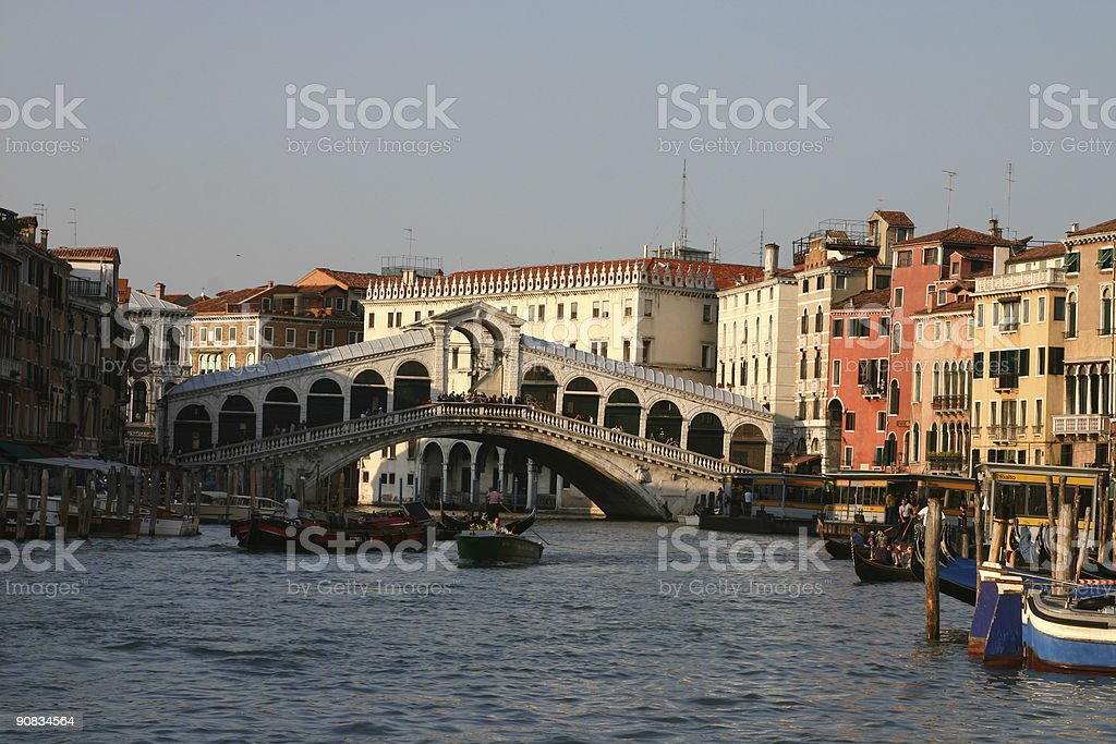 Di Rialto bridge in Venice, Italy royalty-free stock photo