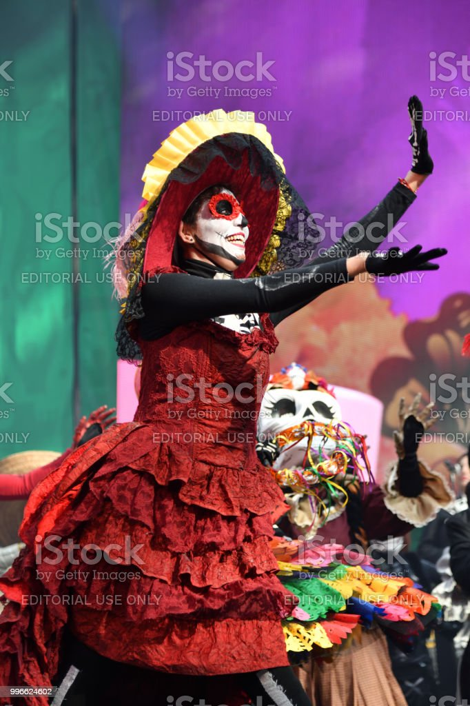 Dia De Los Muertos Carnival Day Of The Dead Parade Stock Photo