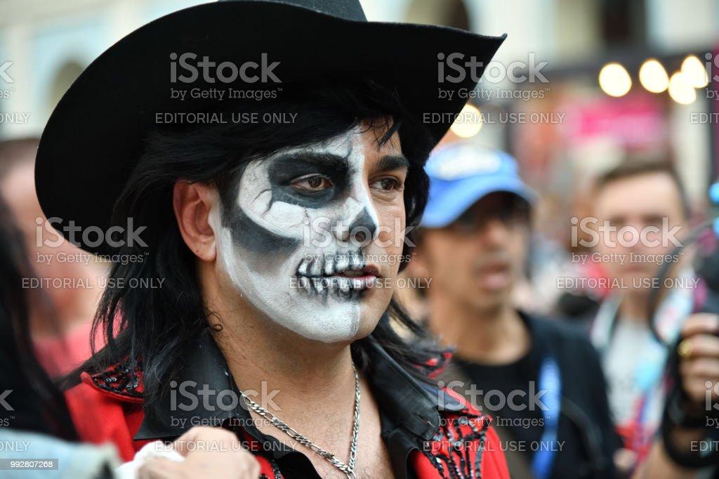 Dia De Los Muertos Carnival Sugar Skull Makeup Man Day Of The Dead