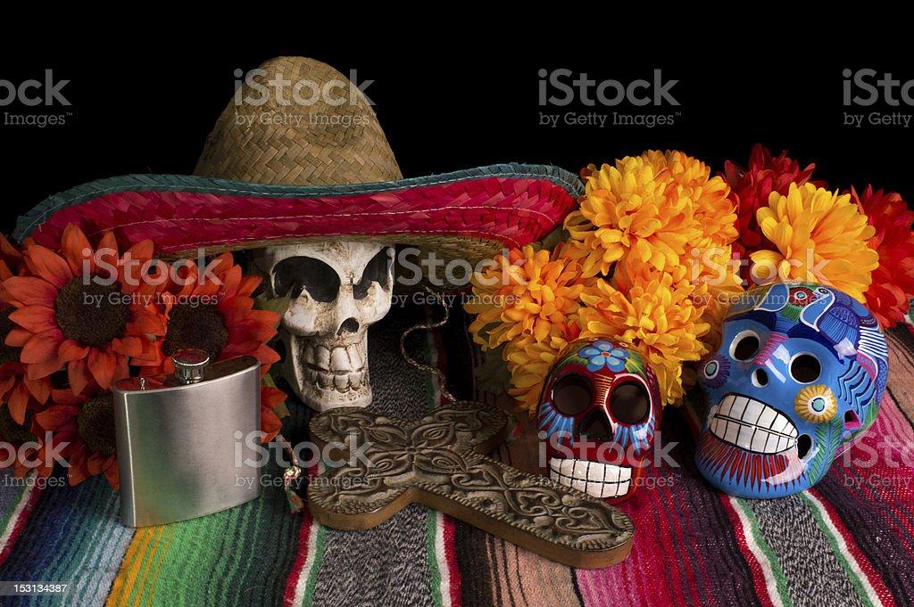 Dia De Los Muertos - Day of The Dead Altar stock photo