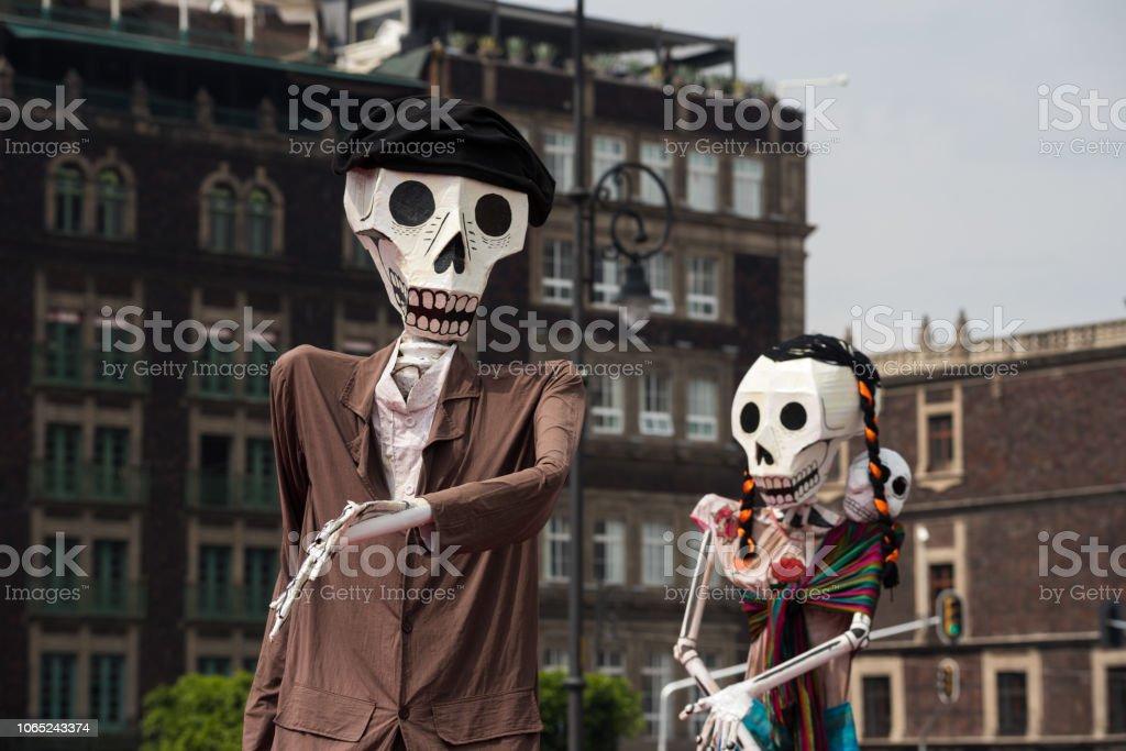 Dia de Muertos decorations in Mexico Dia de Muertos decorations in Mexico Capital Cities Stock Photo