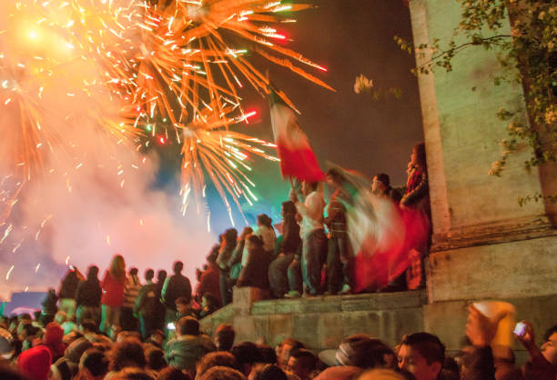 san miguel de allende, gto, mexico - september 15, 2014: dia del grito, mexican independence day - independence stock photos and pictures