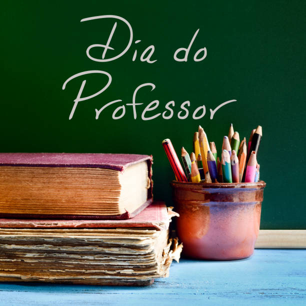 dia do professor, teachers day in portuguese - teachers day stock photos and pictures