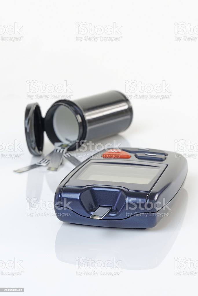 Diabetes Blood Monitor stock photo