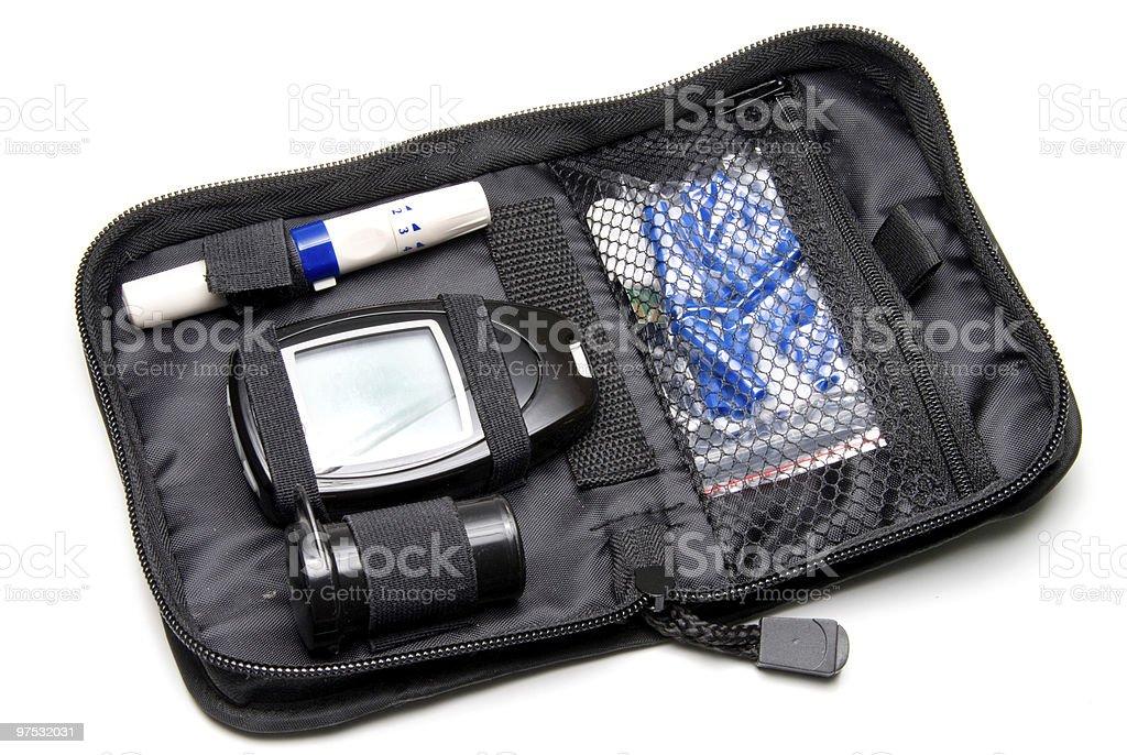 Diabetes Kit stock photo