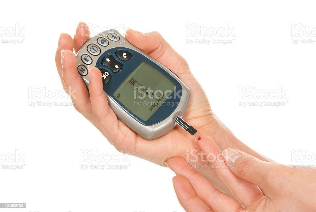 Diabetes measure glucose surag level blood test royalty-free stock photo