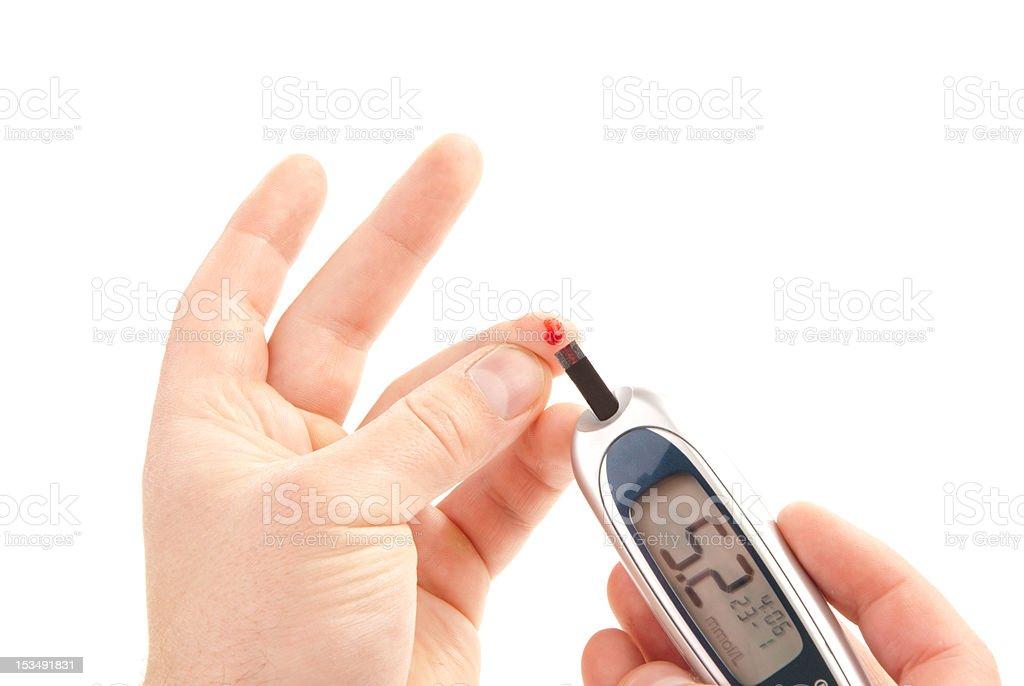 diabetes measuring glucose level blood test royalty-free stock photo