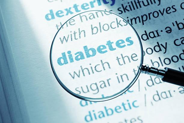 diabetes - definition krankheit stock-fotos und bilder