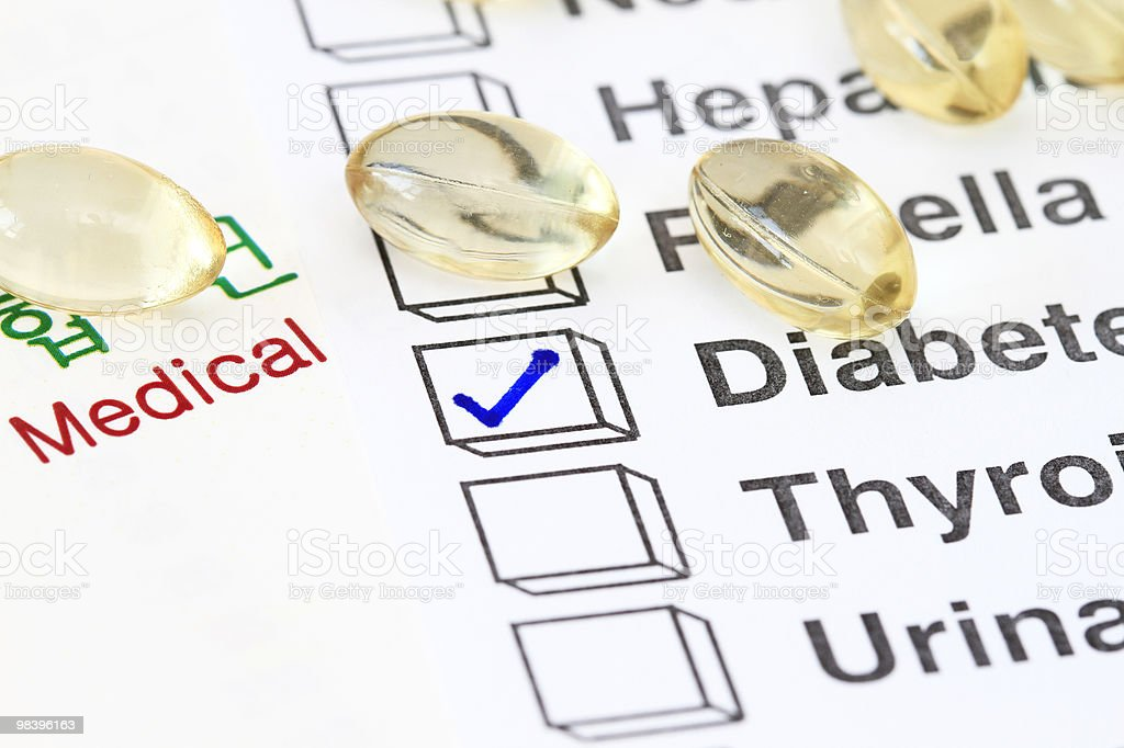 Diabetes royalty-free stock photo