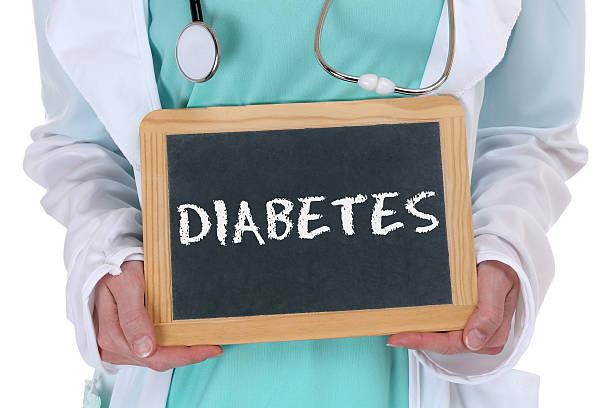 Diabetes sugar disease ill illness healthy health doctor stock photo
