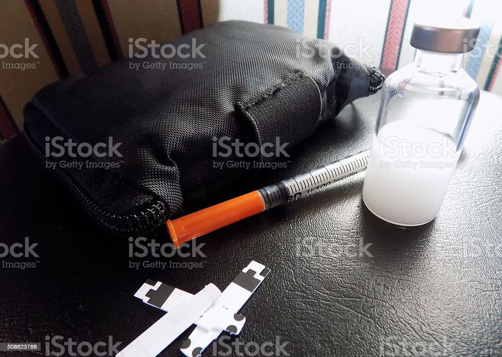 Diabetes suprimentos - foto de acervo