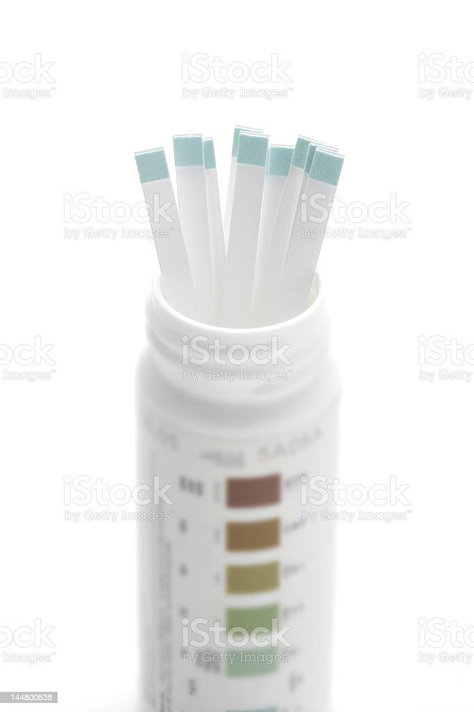 Diabetes test strips royalty-free stock photo