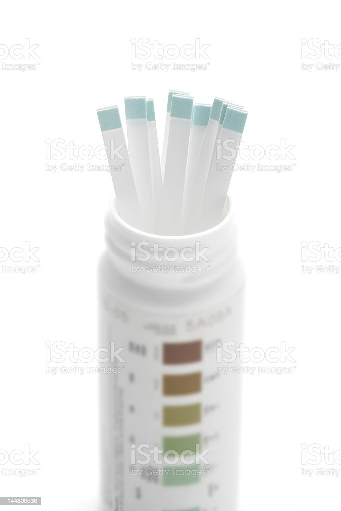 Diabetes test strips stock photo