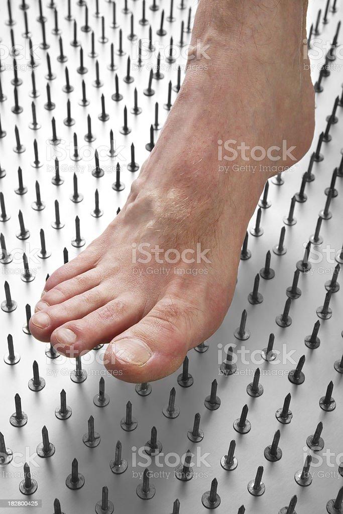 Diabetic Foot Pain royalty-free stock photo