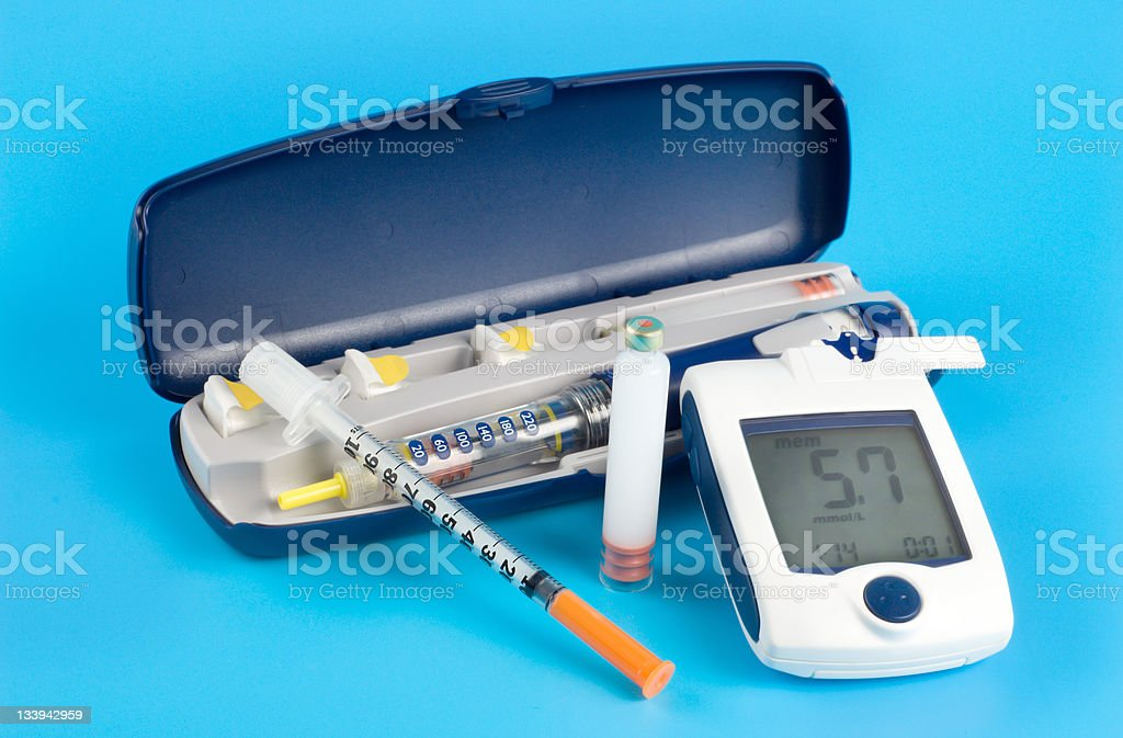 Diabetic items royalty-free stock photo