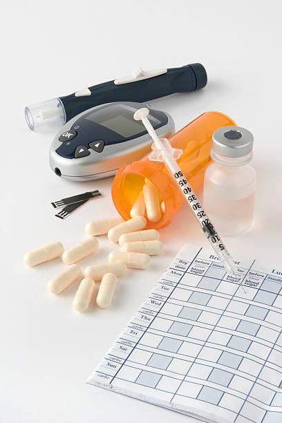 Diabetic Items stock photo
