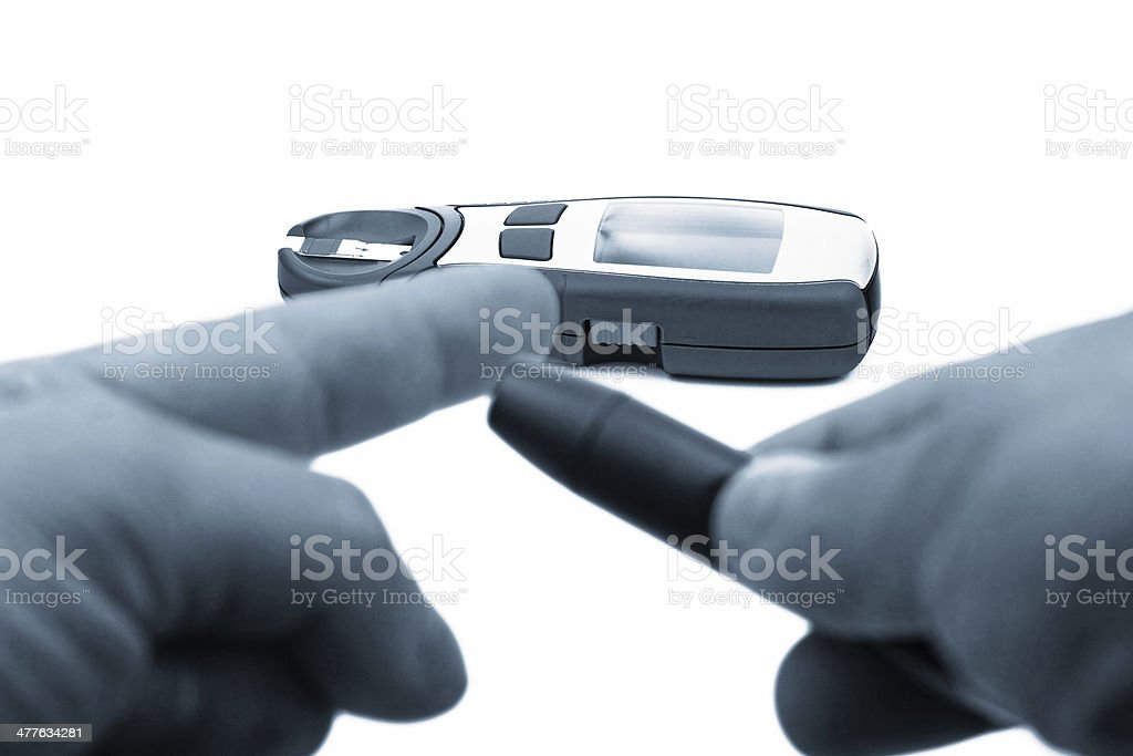 Diabetic test device royalty-free stock photo