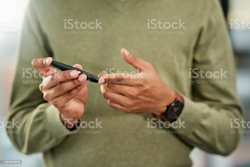 Diabetiker sollten immer ein wachsames Auge auf ihren Blutzuckerspiegel - Lizenzfrei Abstrakt Stock-Foto