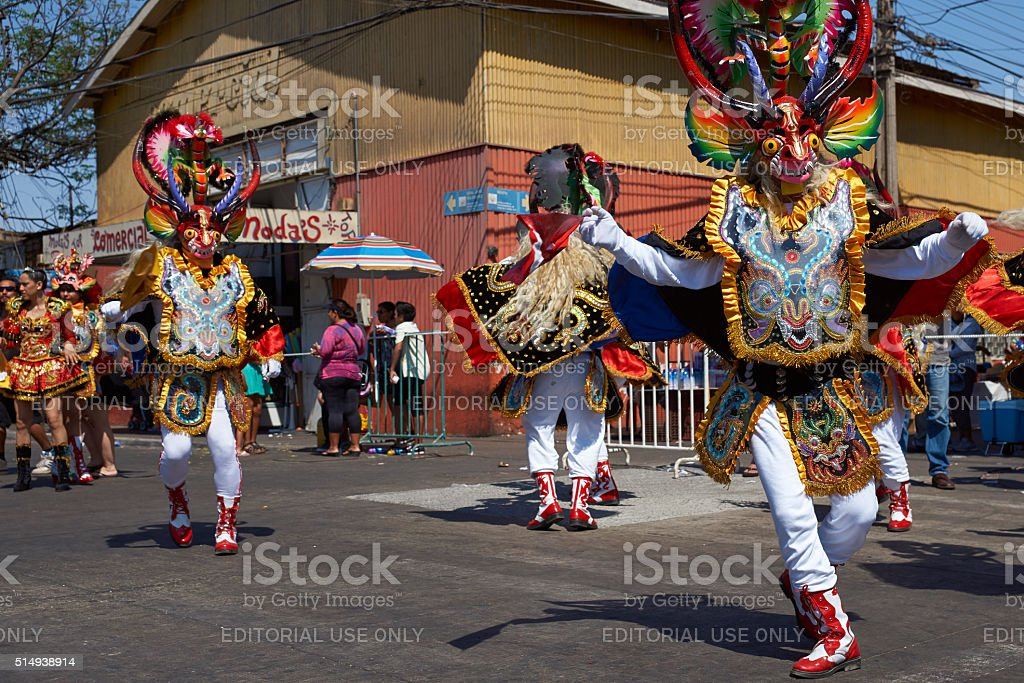 Diablada Dance Group stock photo