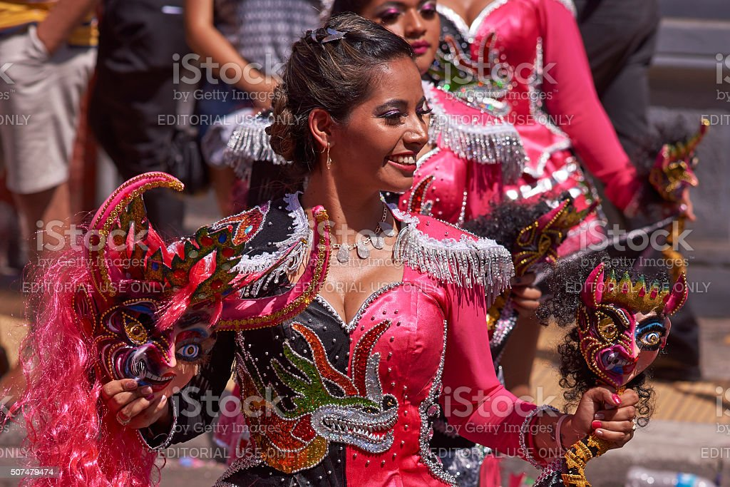 Diablada Dance stock photo
