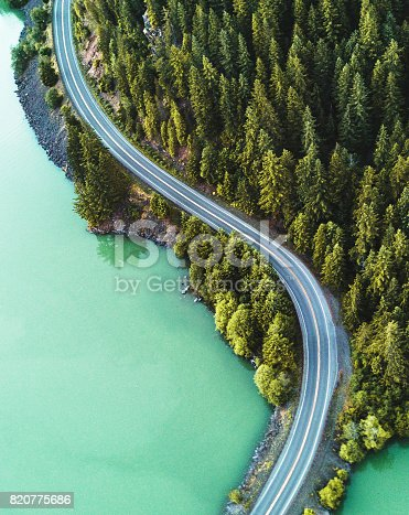 istock diablo lake aerial view 820775686
