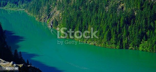 Northwest Washington's Cascade Range. North Cascades National Park. Diablo Lake In May.