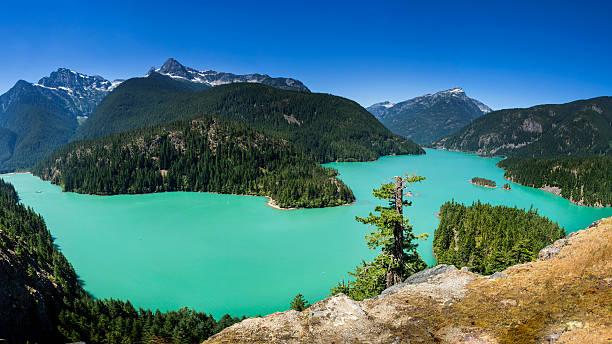 Diablo Lake, North Cascades National Park stock photo
