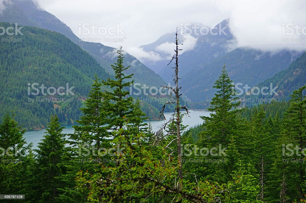 Diablo Lake stock photo