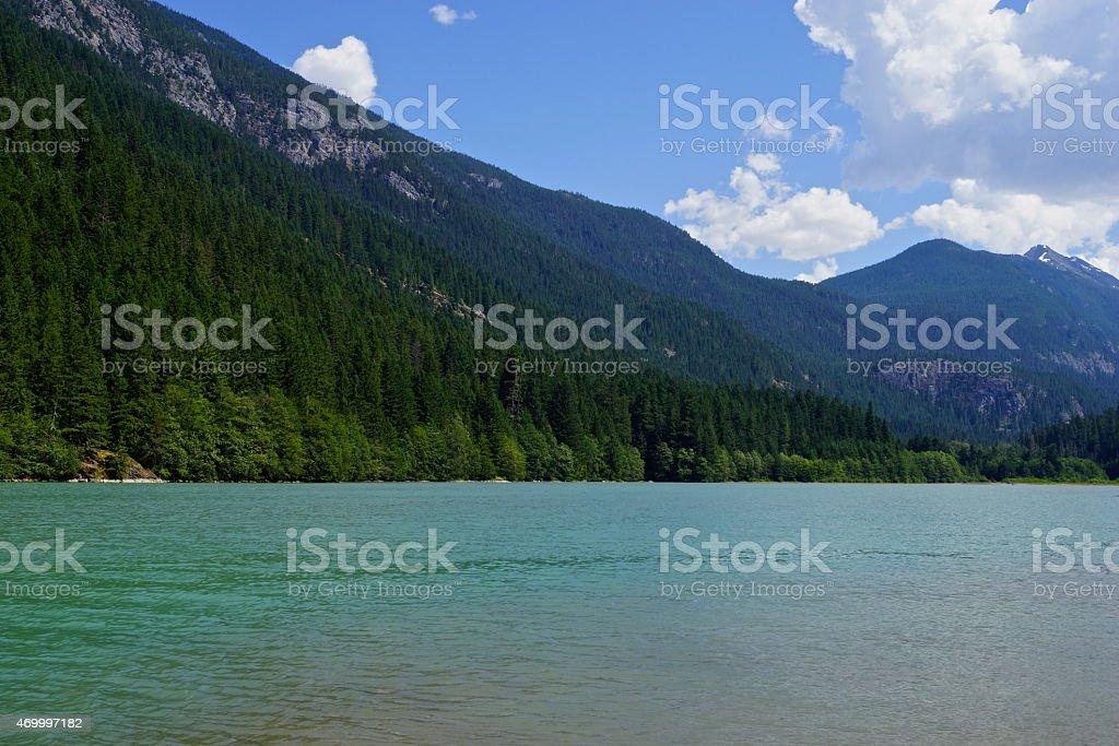 Diablo Lake Swimming Spot stock photo
