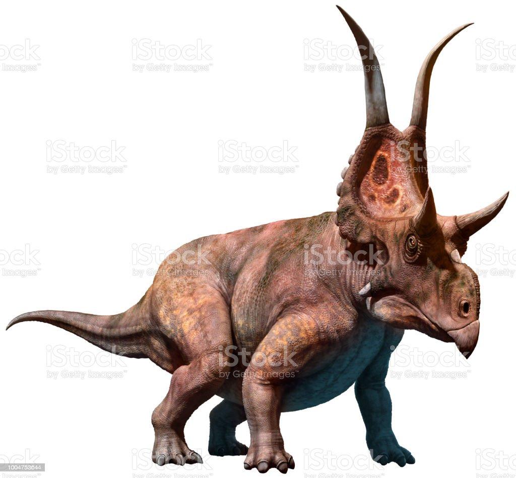Diabloceratops 3D illustration stock photo