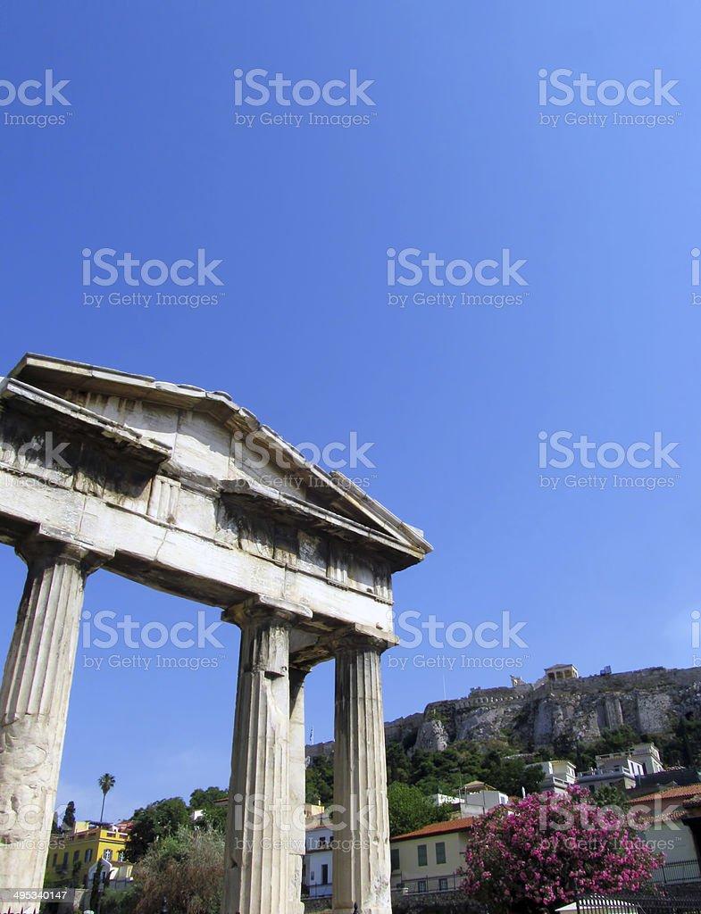Diachronic Athens stock photo