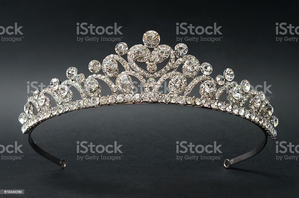 Diadem on a black background stock photo