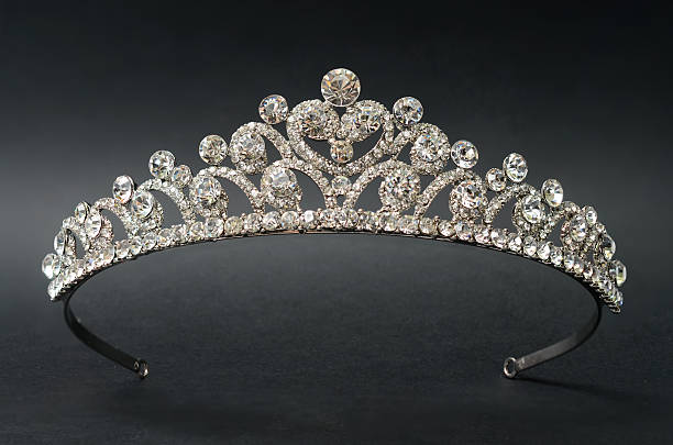 diadem on a black background - diadem stock pictures, royalty-free photos & images