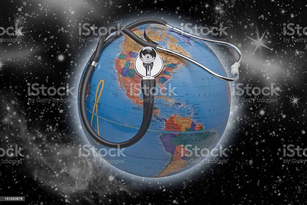 Diagnosis earth or america,isolated royalty-free stock photo