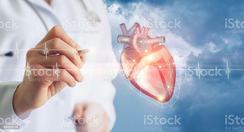 Diagnosis of heart doctor . stock photo