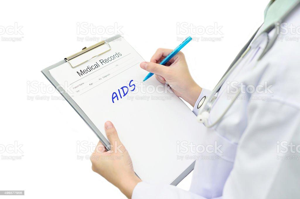 AIDS diagnosis stock photo