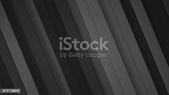 Diagonal black stripes. Abstract geometric background. 3D render illustration