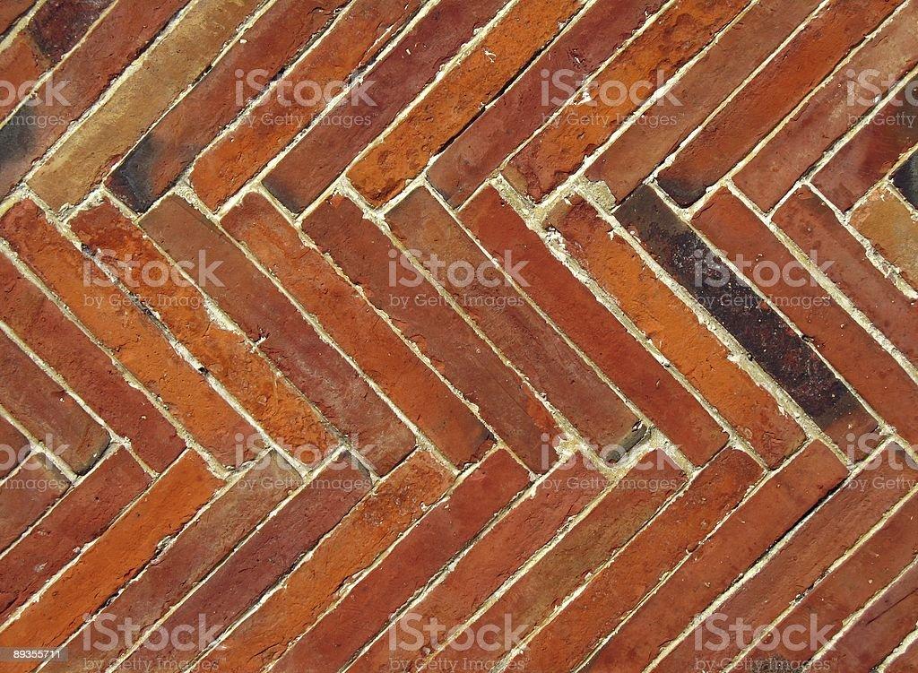 Diagonal Bricks royalty free stockfoto