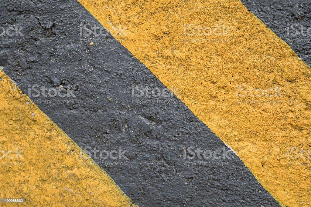 Diagonal hazard stripes texture stock photo