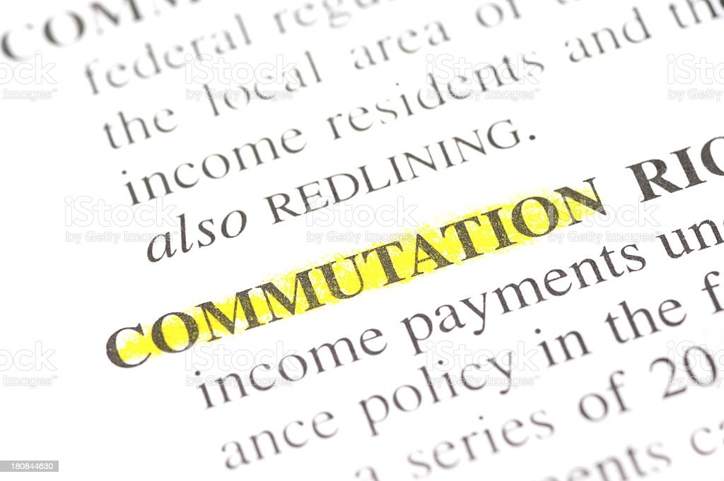 diagonal meaning of commutation word defintion marked in dictionary stock photo