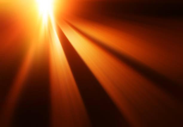 Diagonal motion blur sunset rays background stock photo