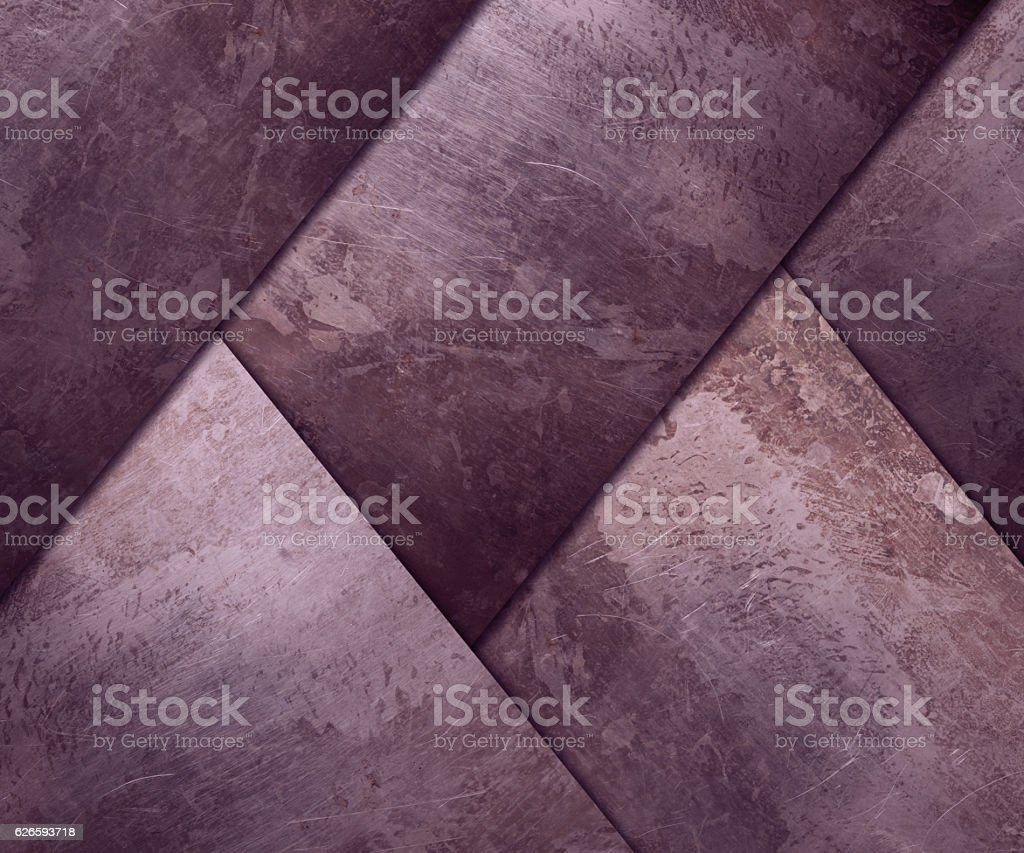 diagonal rusty plates for background vector art illustration